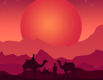 Sun Set - illustration