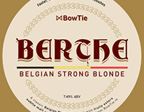 Belgian Blonde Ale beer label for BowTie.io