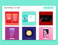 WEBSITE – DailyUI Challenge