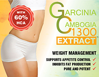 Garcinia Cambogia 1300 Extract Label Design