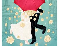 Big Umbrella // Custom Wedding Anniversary gift