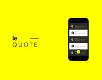le Quote App