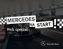 Mercedes na Start! Web special for Mercedes-Benz