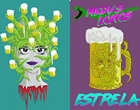 Medusa's Chopp - T-Shirts (Front and Back)