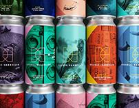 Kingdom & Sparrow craft beer branding