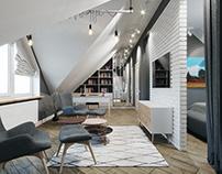 Mansarde Interior Design. Odessa 2018