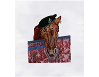 BEAUTIFUL BROWN HORSE FACE EMBROIDERY DESIGN