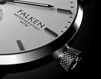 TRIWA FALKEN watch Photorealistic studio rendering