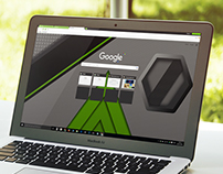 Green Carbon - Google Chrome Theme