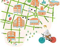 台南&高雄一日單車地圖 Cycling map : A day in Tainan & Kaoshung