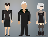 Blade Runner Character Illustrations