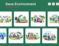 M247_ Save Environment Illustrations