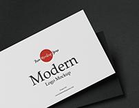 Free Modern Logo Mockup 2019