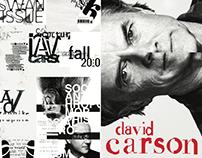David Carson Brochure