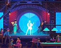 Moonwalker pixel art