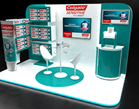 colgate sensitive stall trolly and cart design