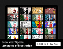 New Year Special 20 styles of illustration