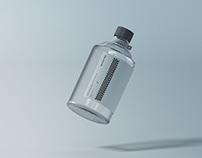 Clear Glass Medical Bottle Mockup