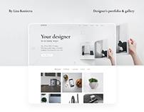 Designer's portfolio & animated gallery
