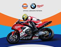 Gulf Oil Bike Stop Wall Graphic Design