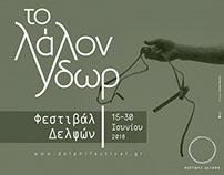 Delphi Festival 2018 identity - The Talking Water