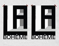 La Boheme – poster for the opera La Boheme.