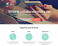 Jott.ly landing page