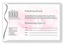 Print Collateral for Nikko Cosmetic Surgery Center