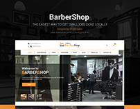 BarberShop Website UI Design