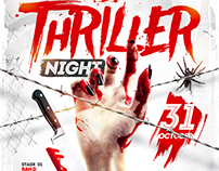 Thriller Night Party Flyer, PSD Template