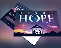 Christmas Hope Cantata Postcard Template
