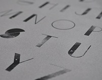 Sevenpoint: Silkscreened Custom Typeface Design