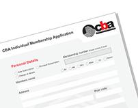 CBA Indvidual Membership Form