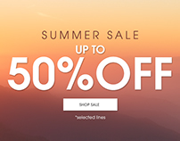 MARISOTA.CO.UK Summer Sale Homepage design