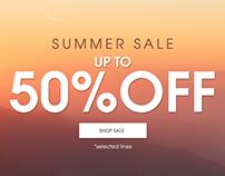 MARISOTA.CO.UK Summer Sale Homepage design