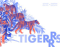Graphic tigers
