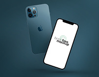 Pacific Blue iPhone 12 Pro Max Mockup 5