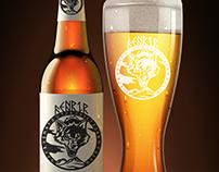 Creación de marca / Cerveza FENRIR (logo y aplicación)