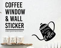 Coffee Window and Wall Stickers