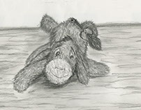 FND 110 Observational Drawing - Stuffed animal