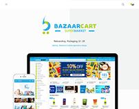 Bazaarcart Supermarket: Rebranding, Packaging, UI-UX