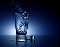 Glass & water 3D
