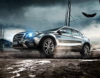 Mercedes-Benz GLA Pitch Layout Design