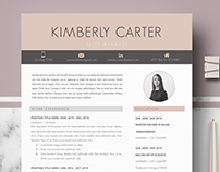 Professional Resume template | CV for Pages and Word