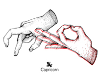 Hands Inspired Zodiac Signs