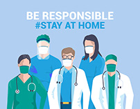 Stay at home awareness social media campaign