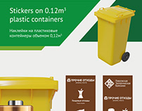 Banners & stickers for different waste containers