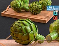 Free 3d model Artichokes