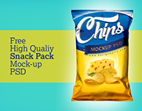 Free Snack Pack Packaging Mockup Psd