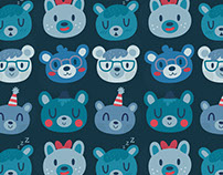 Bear Faces Pattern